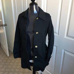 Old Navy black trench coat